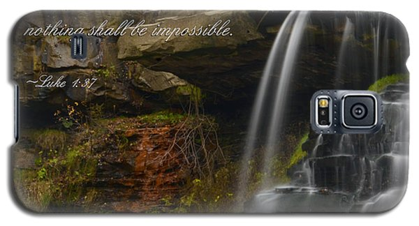 Luke Scripture Waterfall Galaxy S5 Case