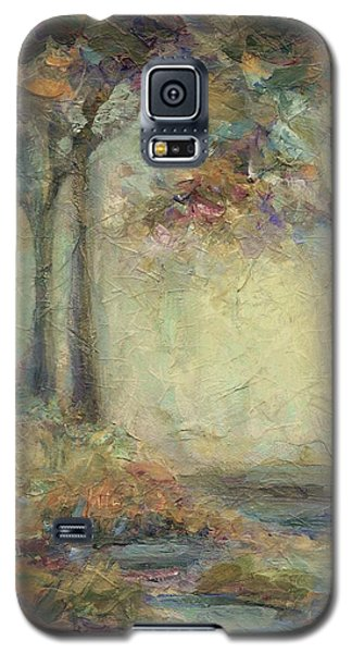Galaxy S5 Case featuring the painting Luminous Landscape by Mary Wolf