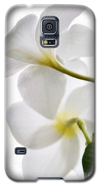 Galaxy S5 Case featuring the photograph Luminous Plumeria by Darla Wood