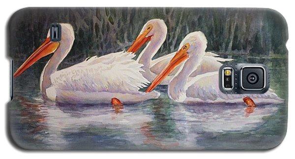 Luminous White Pelicans Galaxy S5 Case by Roxanne Tobaison