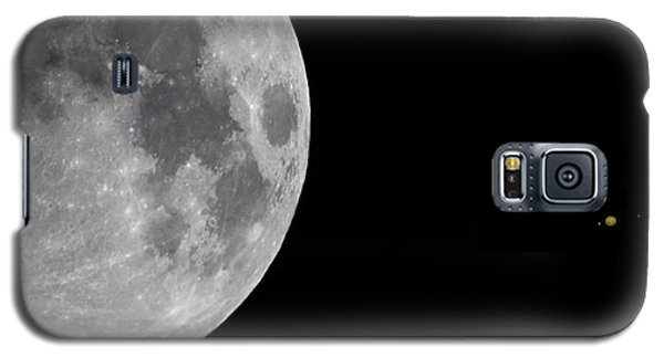 Galaxy S5 Case featuring the photograph Luna And Jupiter by Jason Politte