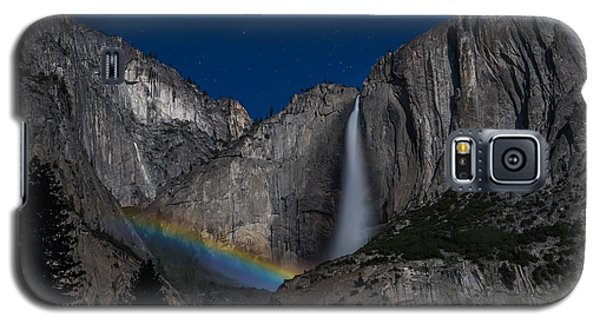 Yosemite National Park Galaxy S5 Case - Lunar Moonbow At Yosemite Falls by Larry Marshall