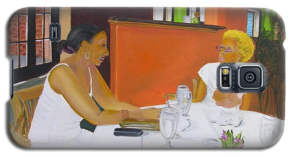Lunch At Olivadi's  Galaxy S5 Case by Barbara Hayes