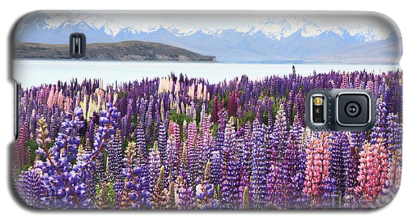 Galaxy S5 Case featuring the photograph Lupins At Tekapo by Nareeta Martin