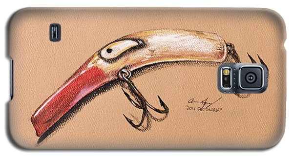 Galaxy S5 Case featuring the drawing Lure by Aaron Spong