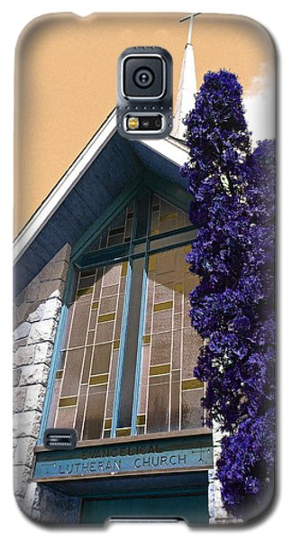 Galaxy S5 Case featuring the photograph Lutheran Church Steeple by Laurie Tsemak