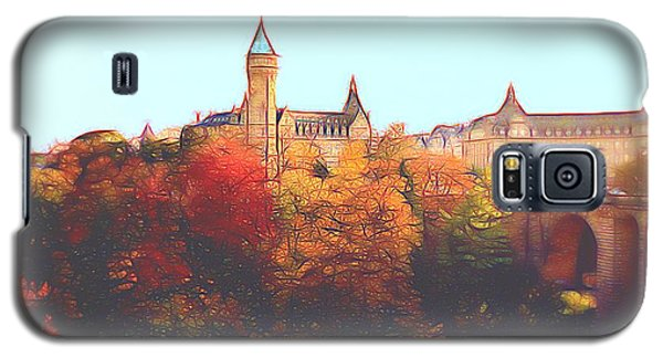 Luxembourg City Skyline Galaxy S5 Case by Dennis Lundell