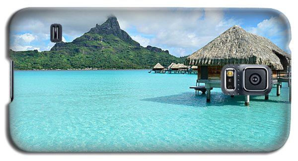 Luxury Overwater Vacation Resort On Bora Bora Island Galaxy S5 Case