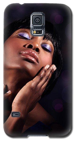 Luxury Woman's Portrait Galaxy S5 Case
