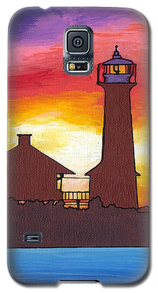 Lydia Anne Lighthouse At Sunset Galaxy S5 Case