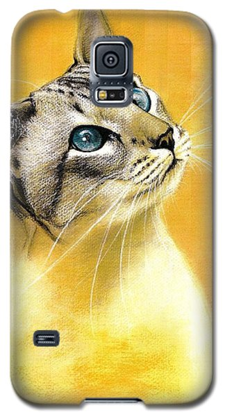 Galaxy S5 Case featuring the drawing Lynx Point Siamese by VLee Watson