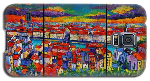 Lyon Panorama Triptych Galaxy S5 Case