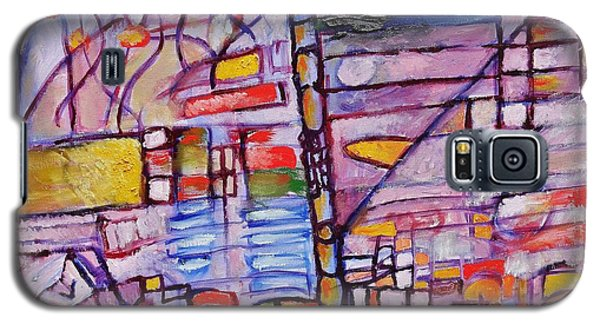 Galaxy S5 Case featuring the painting Lysergic Descriptions by Jason Williamson