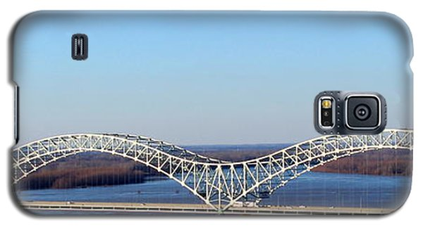 Galaxy S5 Case featuring the photograph M Bridge Memphis Tennessee by Barbara Chichester