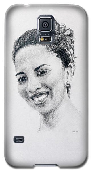 Galaxy S5 Case featuring the drawing M by Daniel Reed