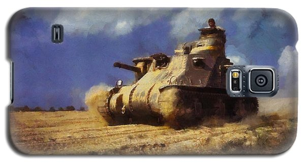 Galaxy S5 Case featuring the painting M3 Lee Tank by Kai Saarto