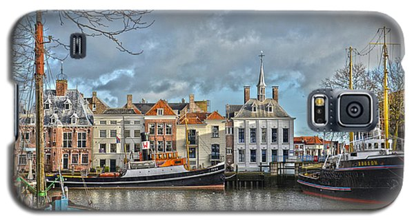 Galaxy S5 Case featuring the photograph Maassluis Harbour by Frans Blok