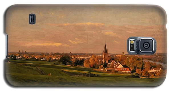 Galaxy S5 Case featuring the painting Maastricht Seen From Sint Pieter by Nop Briex