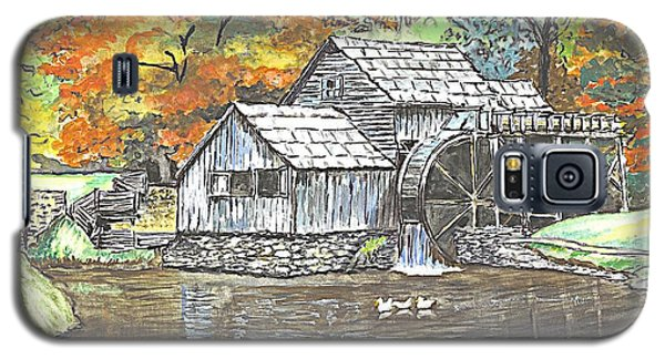 Galaxy S5 Case featuring the painting Mabry Grist Mill In Virginia Usa by Carol Wisniewski