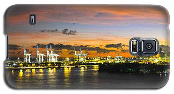 Galaxy S5 Case featuring the photograph Macarthur Causeway Bridge by Gary Dean Mercer Clark