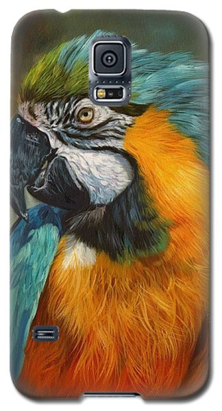 Macaw Galaxy S5 Case - Macaw Parrot by David Stribbling