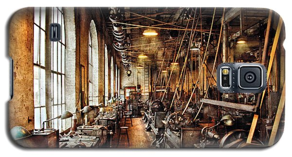 Machinist - Machine Shop Circa 1900's Galaxy S5 Case by Mike Savad