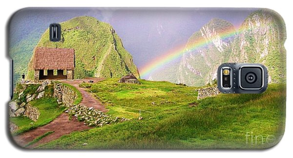 Machu Picchu Rainbow Galaxy S5 Case