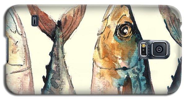 Mackerel Fishes Galaxy S5 Case by Juan  Bosco