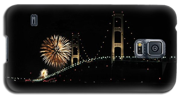 Mackinac Bridge 50th Anniversary Fireworks Galaxy S5 Case