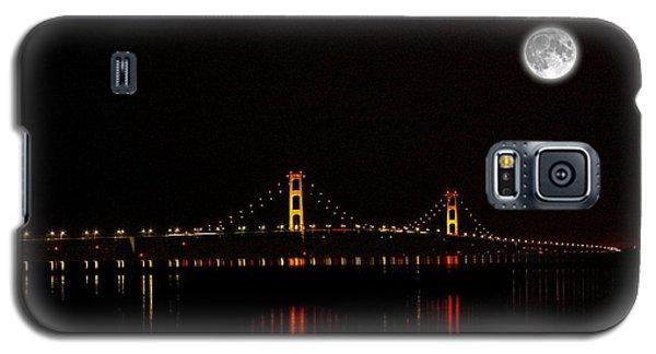 Mackinac Bridge And Moon Galaxy S5 Case