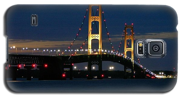 Mackinac Bridge At Dusk Galaxy S5 Case