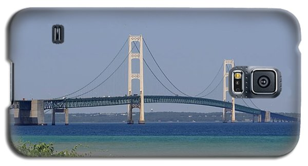 Mackinac Bridge Blue Galaxy S5 Case