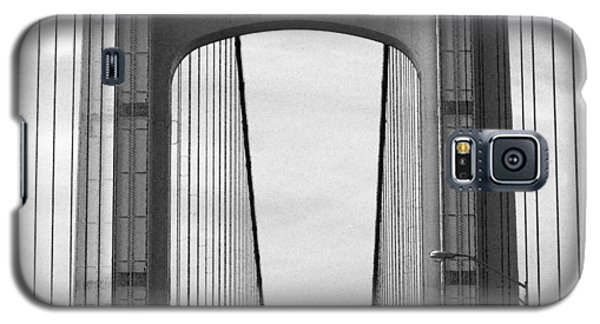 Mackinac Bridge Detail 2 Bw Galaxy S5 Case by Mary Bedy