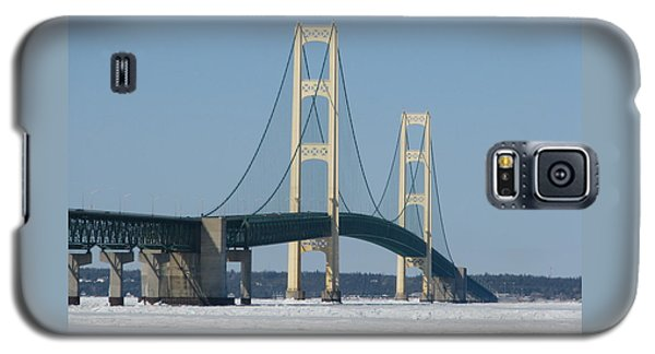 Mackinac Bridge In Winter Galaxy S5 Case