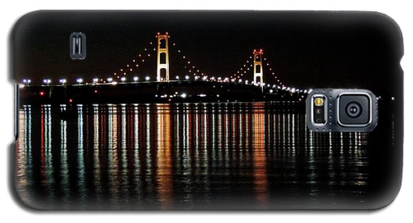 Mackinac Bridge Lights Galaxy S5 Case
