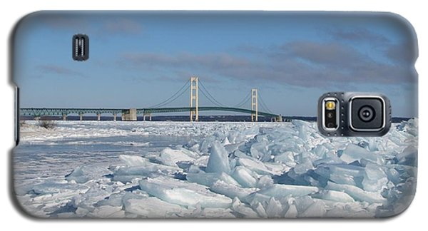 Mackinac Bridge With Ice Windrow Galaxy S5 Case