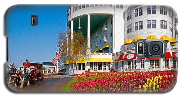 Mackinac Grand Hotel Galaxy S5 Case by Dennis Cox WorldViews
