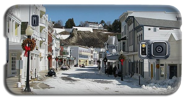 Mackinac Island In Winter Galaxy S5 Case