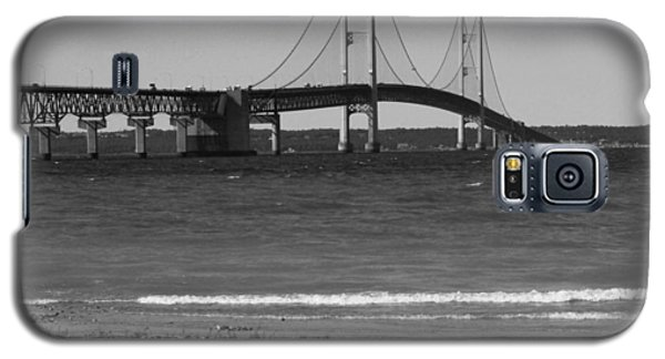 Mackinaw Bridge Black And White Galaxy S5 Case by Bill Woodstock