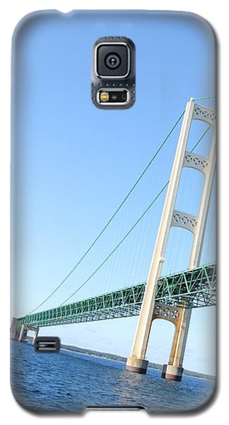 Mackinaw Bridge North Tower Galaxy S5 Case by Bill Woodstock