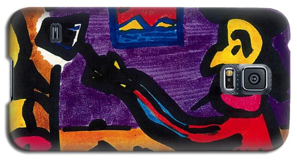 Galaxy S5 Case featuring the drawing Mad Artist by Don Koester