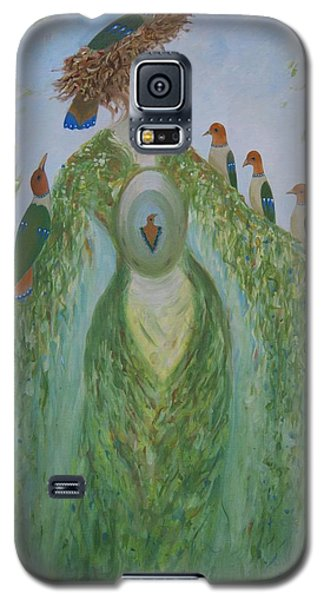 Galaxy S5 Case featuring the painting Madame Atomne by Tone Aanderaa