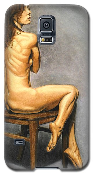 Galaxy S5 Case featuring the pastel Madame Brooke by Joseph Ogle