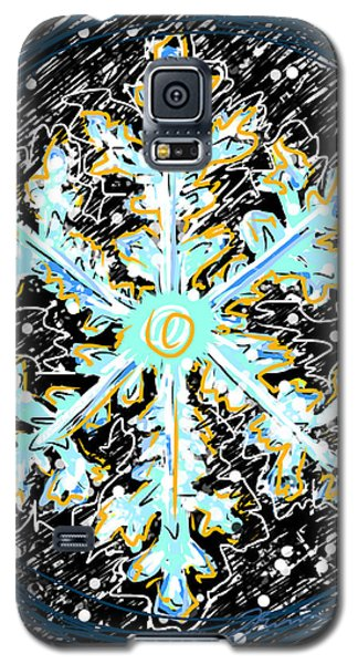 Galaxy S5 Case featuring the painting Madeline Snowflake by Jean Pacheco Ravinski