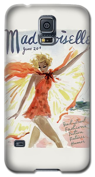 Mademoiselle Cover Featuring A Model At The Beach Galaxy S5 Case