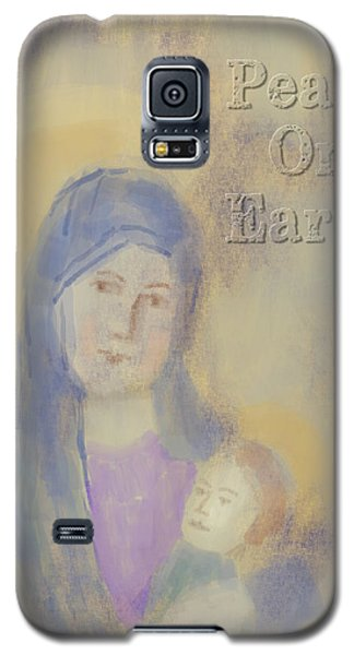 Galaxy S5 Case featuring the digital art Madonna And Child by Arline Wagner