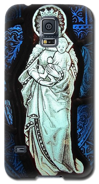Madonna And Child Galaxy S5 Case by Gilroy Stained Glass