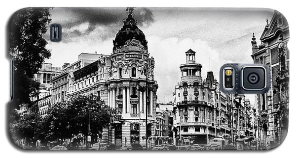 Madrid Metropolis Bw Galaxy S5 Case