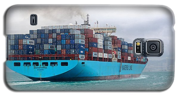 Maersk Kotka In Hong Kong Galaxy S5 Case by Charline Xia