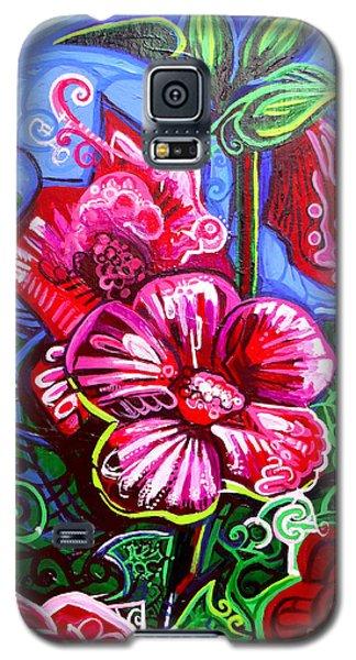 Magenta Fleur Symphonic Zoo I Galaxy S5 Case by Genevieve Esson